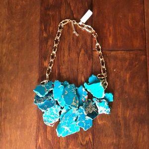 Neiman Marcus Blue Stone Layered Necklace